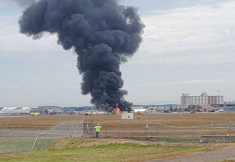 WWII B-17 Bomber Crash at Bradley International Airport - Two Fatalities and 12 Injured